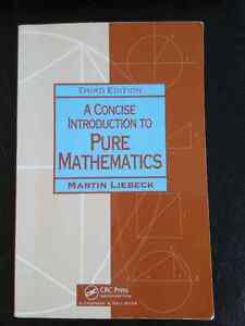 A Concise Introduction To Pure Mathematics 3rd edition
