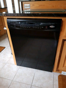 Black whirlpool gold dishwasher.