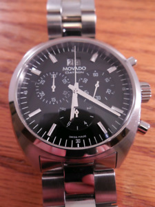 Movado datron chronograph watch with box