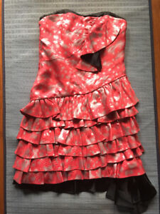 Brand new Marc by Marc Jacobs Size 0 Red&Silver Strapless dress