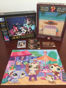 Lot of 13 Various Jigsaw Puzzles & Kitten Puzzle Book