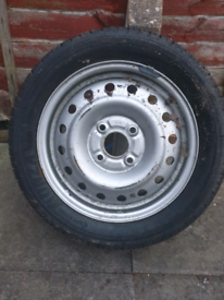 ALLOY STEEL WITH BRAND NEW TYRE