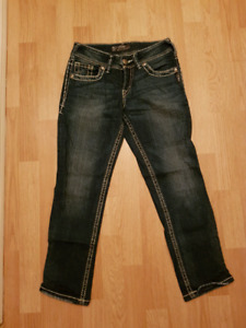 Silver Jean's and Capris size 25