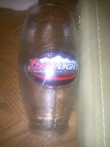 Coors Light Football Shaped Glass