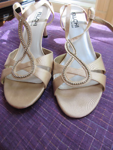 Size 10B Evening sandals - very elegant By Carlos Falchi