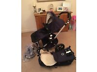 Bugaboo cameleon 3 hardly used navy & cream colour.