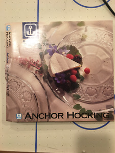 """Anchor Hocking Avalon Clear Glass 12"""" Serving Platter"""