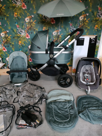 Icandy peach jogger all terrain travel system in avocado