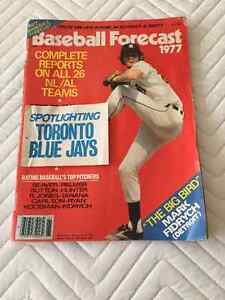 1977 Sports Magazine Baseball Highlights & Blue Jays Forcasts Kitchener / Waterloo Kitchener Area image 1