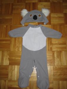 costume koala bébé 12-18 mois