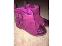 Little girls glitter boots
