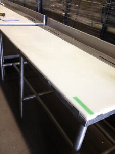Used  commercial butcher tables