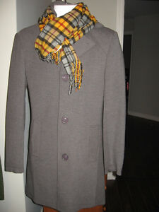 "Mens ""Tailoredwax"" grey wool blend trench XS"