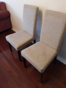 4 kitchen chairs life at home brand,beige faux lenin