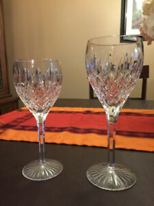 "Waterford Crystal "" Shaftesbury "" Claret Wine and Water Goblets"