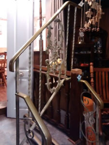 Antique Wrought Iron  Railing for stairs ( inside or outside). I