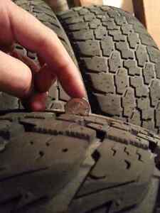 4 Winter tires on rims 7/32 WINTERCAT 195x70xR14