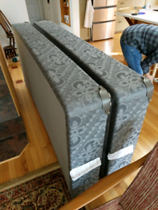 Two twin box springs or one king box spring
