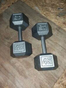 Im looking for a set of 45lb hex dumbbells
