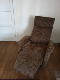 Brown Swivel Recliner