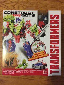 Transformers Optimus Prime & Gnaw Construct Bots  Brand new
