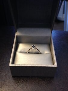 Blue Diamond Ring with 10K Band