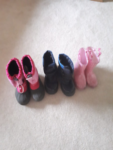Kids snow boots and rain boot