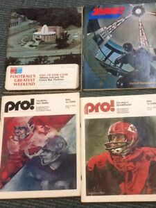 45 NFL preview magazines 1960's 1970's 1980's ***