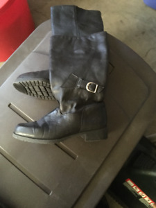 calf length leather boots brand new