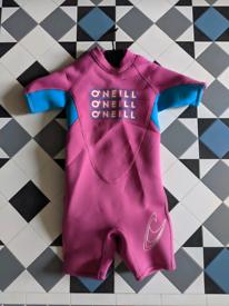 Kids O'Neill shorty wetsuit Age 3 (US sizing)