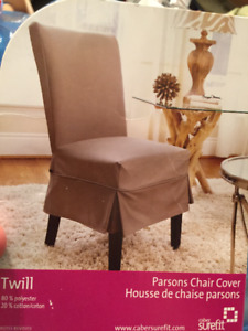 Eight Parsons Chair Covers - Retails $280+tax