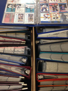 30 binders full of sports cards