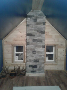 2 bedroom with rustic features