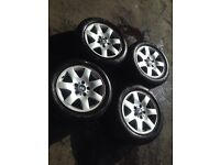 BMW 16 inch alloys with tyres