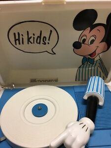 Vintage Mickey Mouse Sears Electronics Turntable clean & works