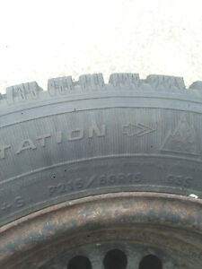 4 Great Goodyear Nordic (P215/60R15) Winter Tires for Sale!!! Kitchener / Waterloo Kitchener Area image 2