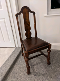 Vintage solid wood dining chairs