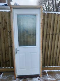 External White Fire Door