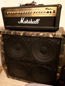 Marshall head and laney cabinet