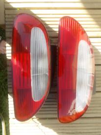 MGF MGTF rear light lenses pair