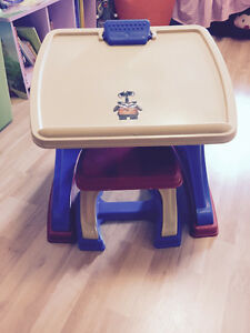 Toddler desk/easel