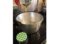Preserving pan.