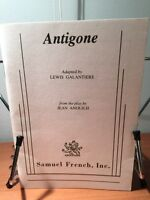 Antigone adapted by Lewis Galantiere