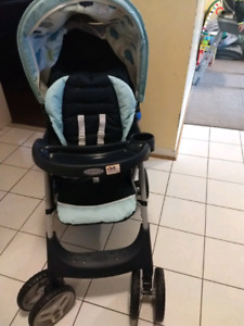 Graco travel system + baby bath tub + play mat