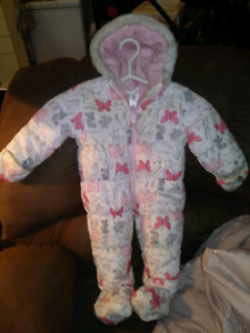 Size 18 month baby girls snowsuit