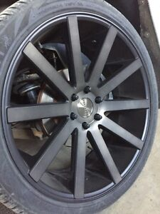 "24"" dub shot calla wheels"
