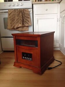 Energy-saving heater and side table combo