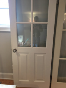 "Exterior French (side) Door with hardware 32"" w x 80"" H"