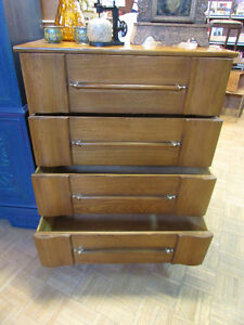 MID CENTURY MODERN ELM DRESSERS AND NIGHT TABLE Edmonton Edmonton Area image 2