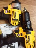 Dewalt drill and impact set
